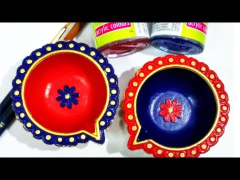 Easy Ways to Decorate Plain Diyas (PART -3) | Small Diya Painting Ideas | Diwali Decoration DIY