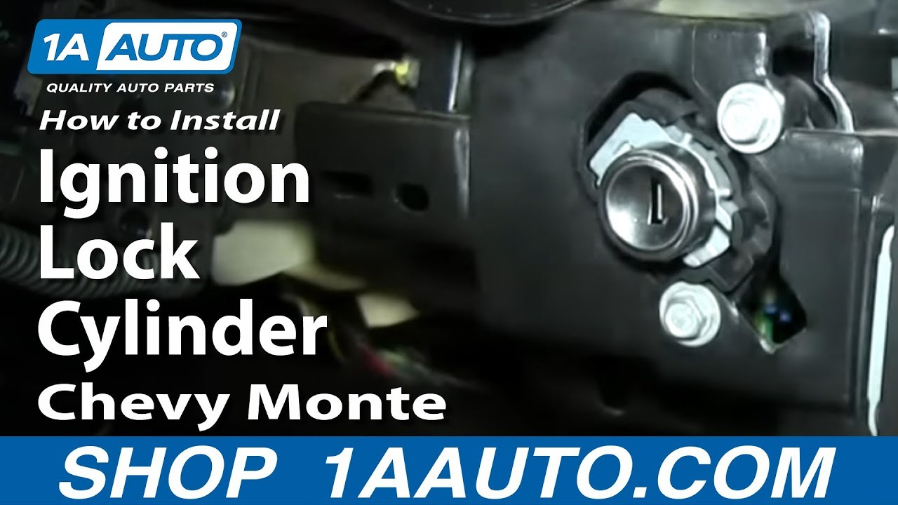 How To Install Replace Ignition Lock Cylinder 2000 05 Chevy Monte 3 1 Malibu Engine Wiring Diagram Carlo