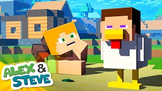 🐔 AN ENDER PEARL DID THIS TO STEVE?!?! | The Minecraft Life of Alex and Steve | Minecraft Animation YouTube Videos