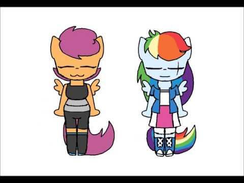 Timelapse {Meme} Scootaloo And Rainbow Dash (+13)