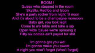 Repeat youtube video LMFAO Champagne Showers Lyrics
