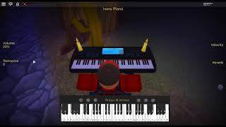 Arcade by: Duncan Laurence on a ROBLOX piano.