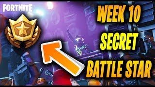 FORTNITE SEASON 6 WEEK 10 SECRET BATTLE STAR LOCATION