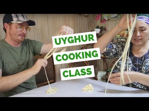 Uyghur Food Cooking Class making Lagman in Karakol, Kyrgyzstan