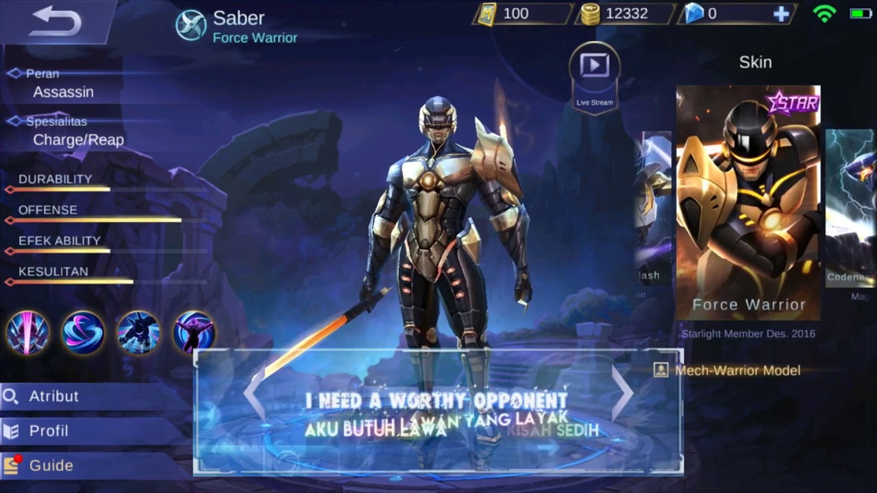 Kata Kata Bijak Saber Mobile Legends Bahasa Indonesia