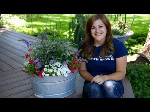 Planting in a Galvanized Container // Garden Answer