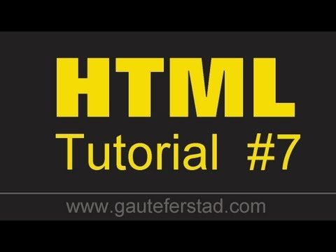 HTML Tutorial 07 Combining Lists