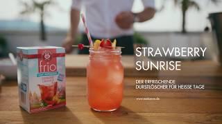 Strawberry Sunrise mit TEEKANNE frio Erdbeere Orange