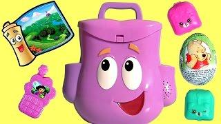 Mochila Dora Aventureira com Surpresa ToysBR Brasil Dora the Explorer Talking Backpack Surprise Eggs
