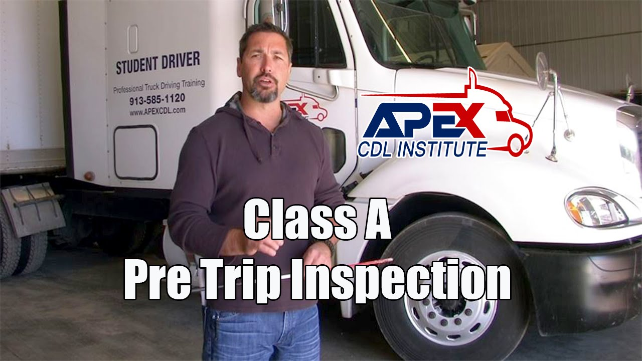 How to perform a Class A CDL Pre-Trip inspection. - YouTube