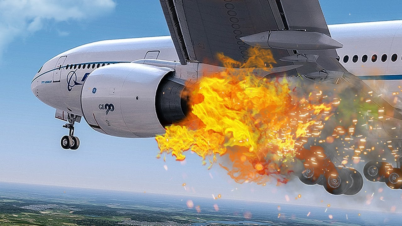 Engine Take Off : Engine on fire emergency after takeoff new flight