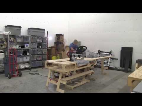 PORTABLE WOODSHOP SET UP IN UNDER 12 MINUTES