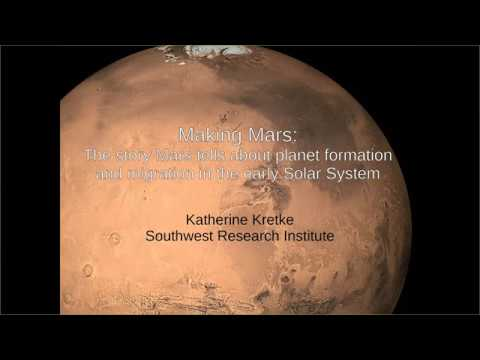 Making Mars: The story Mars tells about planet formation and migration in the early solar system