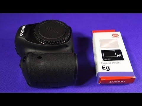 Canon 6D / 5D MarkII / 60D - Changing the Focusing Screen