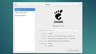 Install Debian 8 Jessie RC1 amd64. GNOME 3.14.1 Desktop.