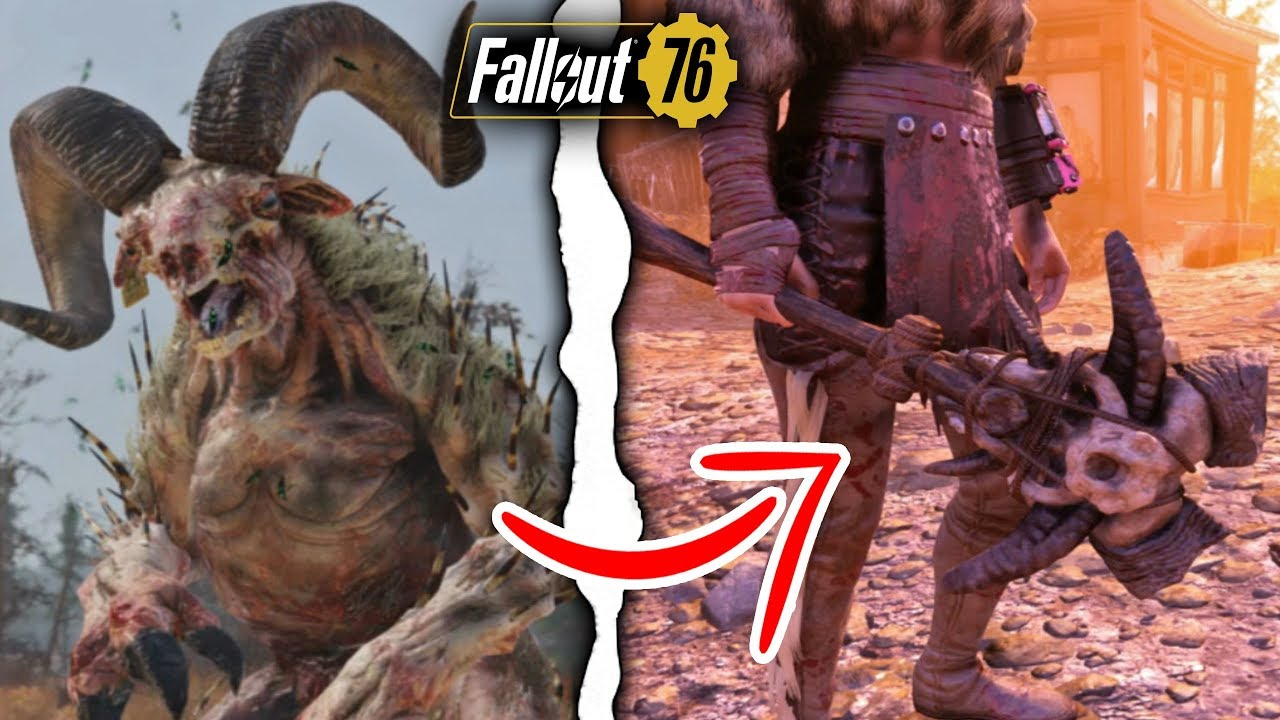 Fallout 76 Just Got the Real Sheepsquatch & New Unique ...