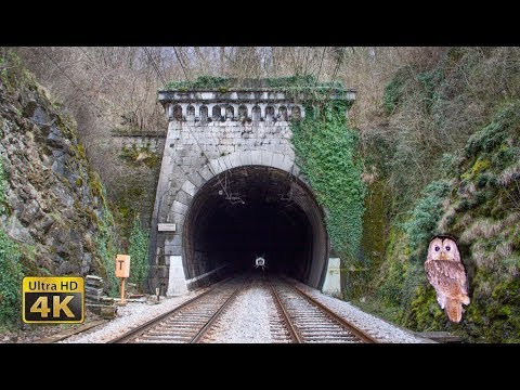 Rail traffic in Slovenia - Tunnels part Gornje Lezece - Tunnel owl [4K]