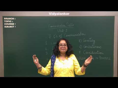 The Seven Cs of Effective Communication Part I | Vidyalankar FY BScIT Classes