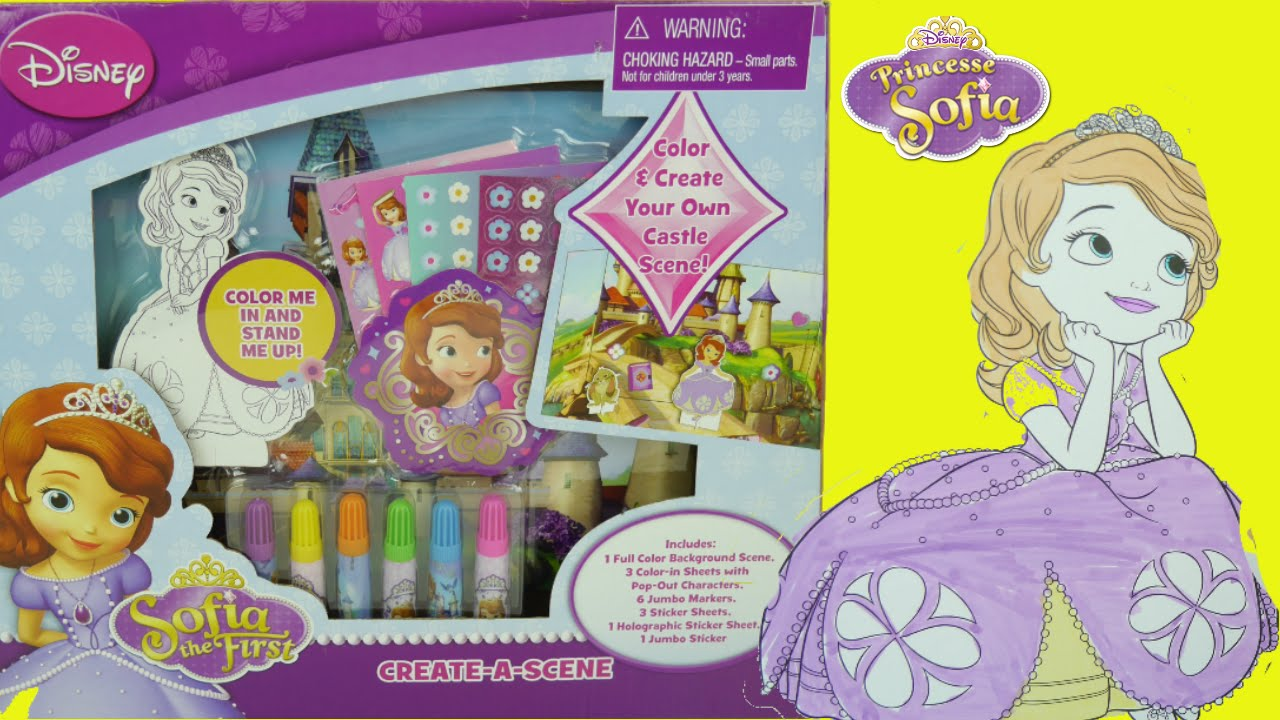 74e9a2a6466ab  لعبة تلوين صوفيا الأولى - ألعاب بنات أميرات ديزني Sofia the First Coloring  kit - YouTube