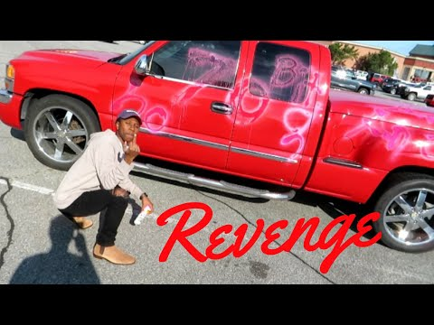 Spray Paint Prank- We vandilized his car (He had it coming)