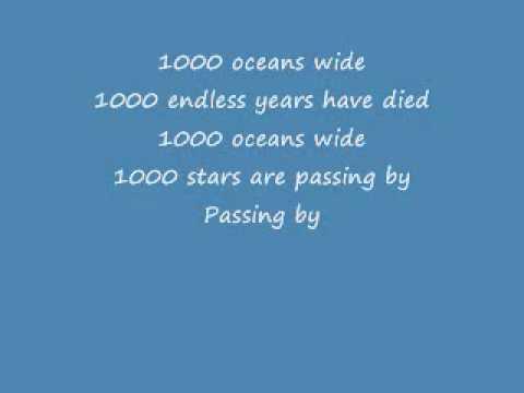1000 Oceans--Lyrics