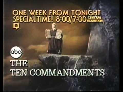 ABC The Ten Commandments Promo 4/19/81