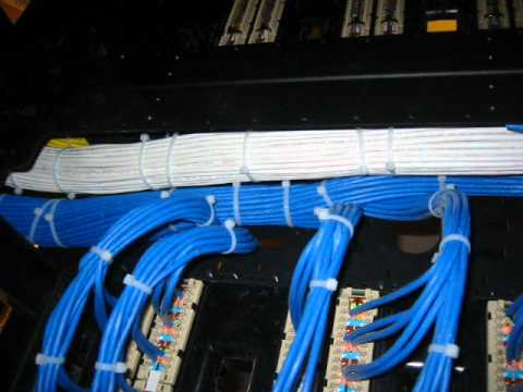 How To Dress Cat6 Cable Youtube