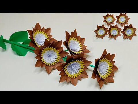How to Make Decoration Paper Flower Idea | DIY Paper Crafts at Home | Jarine's Crafty Creation