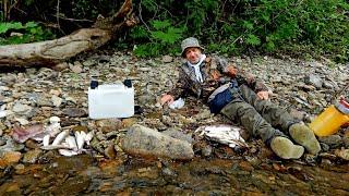 Рыбалка в Приморье Река Журавлевка Хариус ленок 30 06 04 07 2021 г День 3