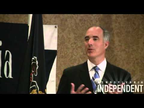 Sen. Bob Casey takes questions at PA Press Club