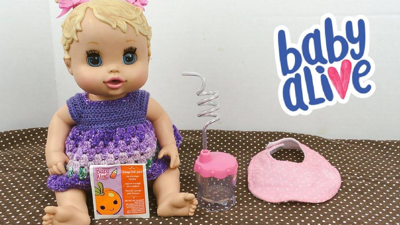Baby Alive Sip N Slurp Doll Feeding Orange Juice Youtube