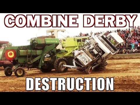 Combine Demolition Derby At Greenville County Fair 2017