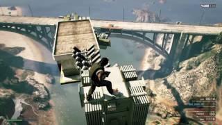 (Gta 5 online) - PARKOUR ON THE BRIDGE!!!