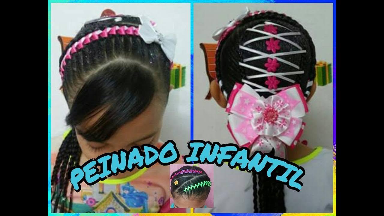 Peinado Infantil Encintado Corazones Corset