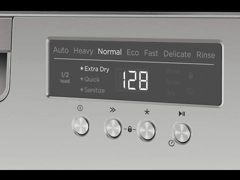 Fisher & Paykel Dishwasher Options Settings Menu