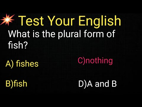 [0019]1000 English Grammar Test Practice Questions: Plural For Fish||Plural Of Fish
