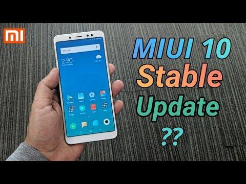 MIUI 10 Global Stable Rom Update schedule 🔥🔥