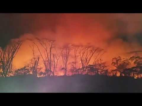 Lava From Kilauea Volcano Encroaches Property in Pahoa, Hawaii