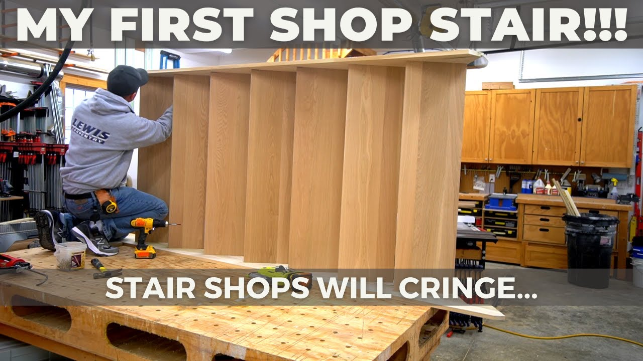 How to Assemble a Shop Built Staircase - A Learning Experience...