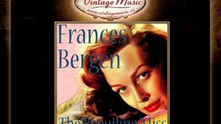 Frances Bergen -- I Was Doing All Right