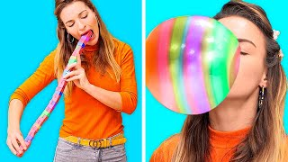 100 LAYERS OF GUM CHALLENGE! || Funny Challenges And Awkward Moments by 123 Go! Genius