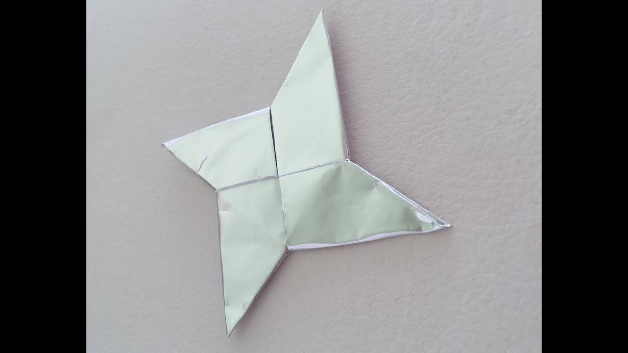(ORIGAMI) How to make a Shuriken (Ninja Star) - YouTube - photo#46