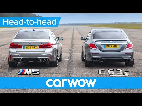 New BMW M5 vs Mercedes-AMG E63 S - DRAG RACE, ROLLING RACE & BRAKE TEST