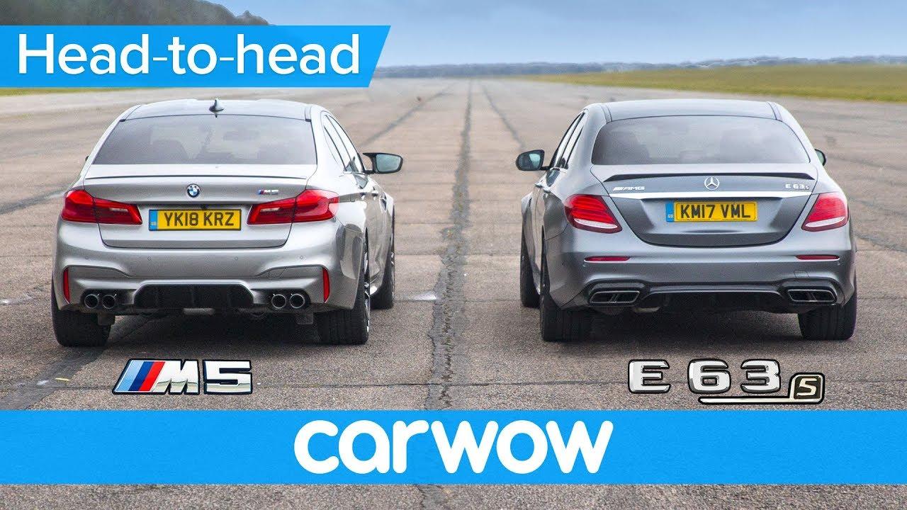 New Bmw M5 Vs Mercedes Amg E63 S Drag Race Rolling Race Brake