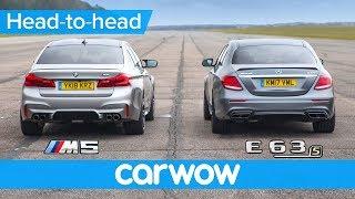 Новий БМВ М5 проти Мерседес-АМГ Е63 з - гонки, Роллінг гонки тест & гальма