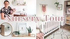 BABY GIRL NURSERY TOUR AND ORGANIZATION | ROSE, GOLD & WHITE | BOHO NURSERY