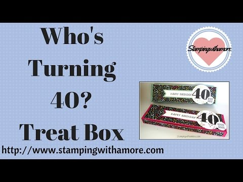 WHO'S TURNING 40!!! BIRTHDAY TREAT BOX
