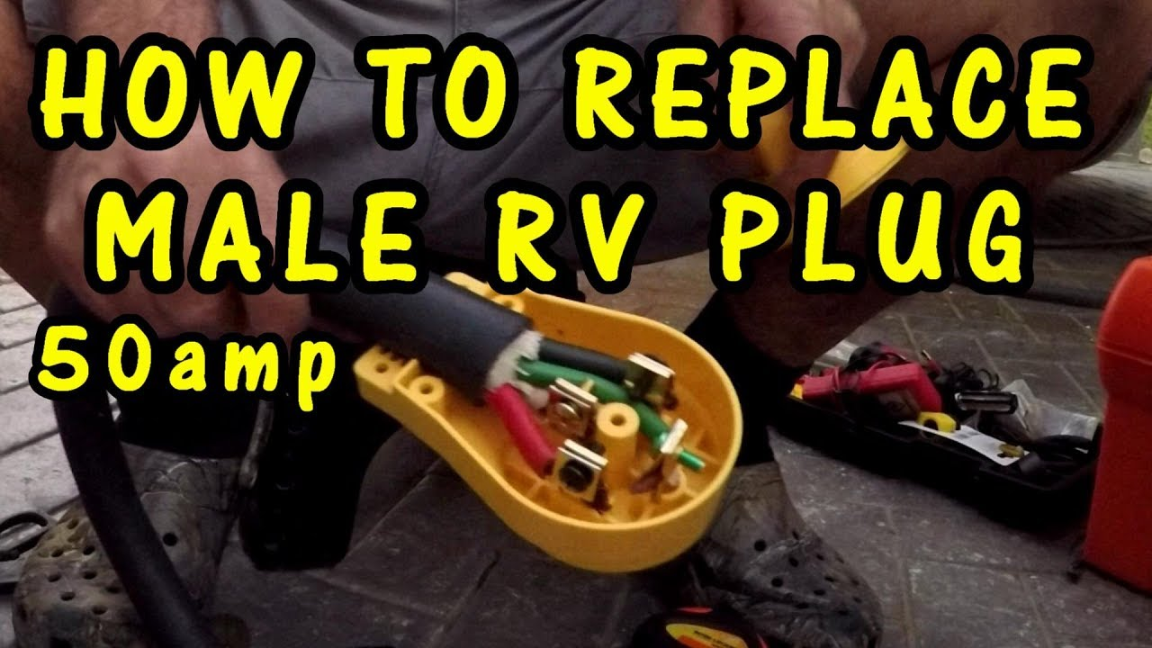 how to replace rv male plug 50  [ 1280 x 720 Pixel ]