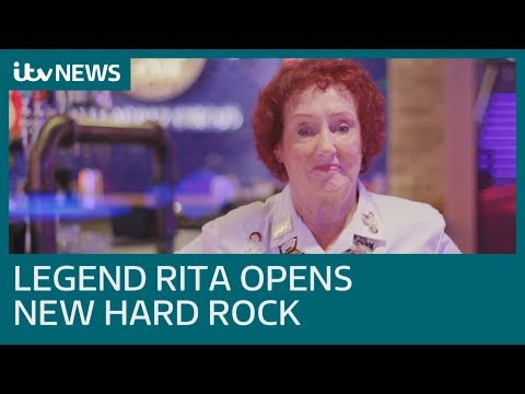 Hard Rock Cafe Legend Rita Gilligan Helps Open Hard Rock Piccadilly Circus | ITV News
