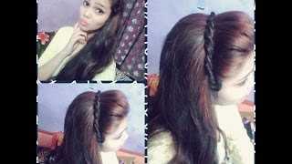 2 min headband hair style for beginners